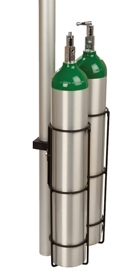 Iv Deluxe Dual E Cylinder Holder For 2 Inch Pole From Wt