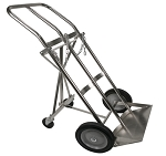 Dual Large Oxygen Cylinder Cart