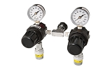 Dual In-Line 0-200 PSI Adjustable Pressure Nitrogen Regulator