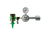 50 PSI Preset CGA 540 Oxygen Regulator (0-15 LPM Click Style Flowmeter and DISS Auxiliary Port)