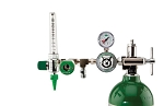 50 PSI Preset CGA 870 Oxygen Regulator (0-15 LPM Flowmeter, Puritan Bennett Coupler With DISS Auxiliary Port)