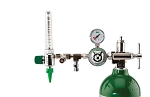 50 PSI Preset CGA 870 Oxygen Regulator (0-15 LPM Flowmeter With Dual DISS Auxiliary Ports)