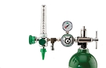 50 PSI Preset CGA 870 Oxygen Regulator (0-15 LPM Flowmeter, Ohmeda Coupler and DISS Auxiliary Port)
