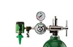 50 PSI Preset CGA 870 Oxygen Regulator (0-15 LPM Click Style Flowmeter and DISS Auxiliary Port)