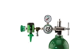 50 PSI Preset CGA 870 Oxygen Regulator (0-15 LPM Click Style Flowmeter, Ohmeda Coupler and DISS Auxiliary Port)
