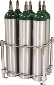 6 E Oxygen Cylinder Rack From Wt Farley