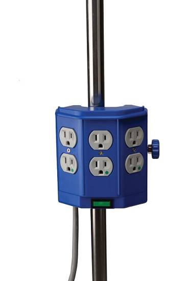 Deluxe Pole Mounted Hospital Grade Power Strip From Wt Farley