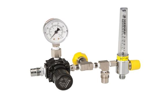 Inline Gas Flow Meter : Specialty inline adjustable pressure air regulator and