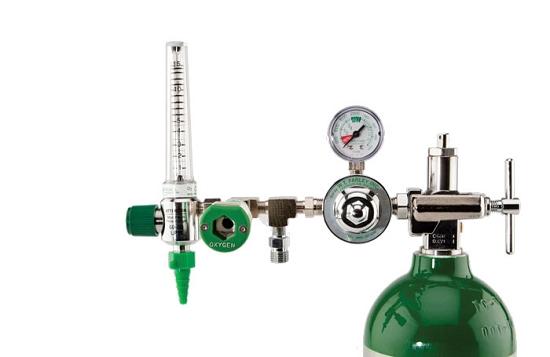 Oxygen Tank Flow Meter 50 PSI Preset C...