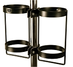 Pole Mounted Dual Cylinder Holder