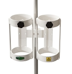 MRI Compatible Pole Mount Dual E Cylinder Holder