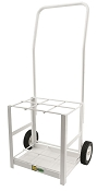 MRI Compatible 6 E Cylinder Cart (Tilt Back)