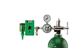 50 PSI Preset CGA 870 Oxygen Regulator (0-15 LPM Click Style Flowmeter, Chemetron Coupler With DISS Auxiliary Port)