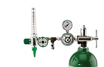 50 PSI Preset CGA 870 Oxygen Regulator (0-15 LPM Flowmeter, Ohmeda Coupler With DISS Auxiliary Port)