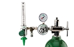 50 PSI Preset CGA 870 Oxygen Regulator (0-15 LPM Flowmeter and DISS Auxiliary Port)
