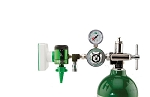 50 PSI Preset CGA 870 Oxygen Regulator (0-15 LPM Click Style Flowmeter, Chemetron Coupler and DISS Auxiliary Port)