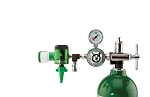 50 PSI Preset CGA 870 Oxygen Regulator (0-15 LPM Click Style Flowmeter, Puritan Bennett Coupler and DISS Auxiliary Port)