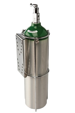 E or D Size Oxygen Cylinder Holder for Flat Surface Mounting