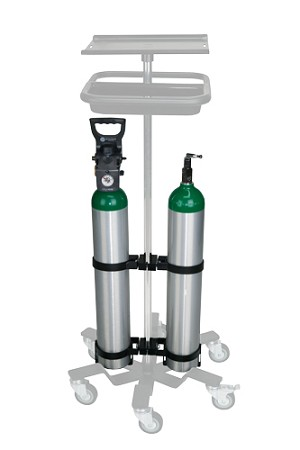 Single Or Dual Swivel Oxygen Holder