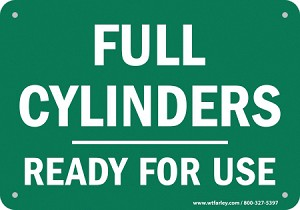 Cylinder Safety Signs