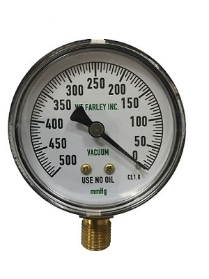 Replacement Gauge for DU-O-VAC (High Flow, 0-500 mmHg)