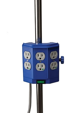 Deluxe Pole Mounted Hospital Grade Power Strip