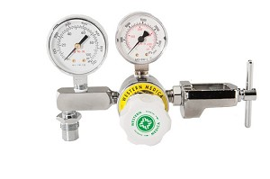 Diaphragm Air Regulator With Adjustable Pressure (0-100 PSI) CGA 950