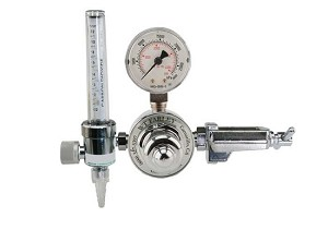 Single Stage CO2 Regulator With Flowmeter CGA 940 for Small Cylinder
