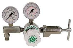 Oxygen Diaphragm Regulator With Adjustable Pressure (0-100 PSI) CGA 870