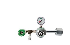 50 PSI Preset CGA 540 Oxygen Regulator (Puritan Bennett Coupler and DISS Auxiliary Port)