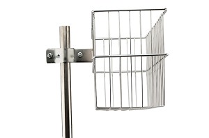 Pole Mounted Accessory Basket (Extended Mount)