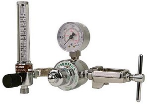 Single Stage Heliox Regulator With Flowmeter CGA 890 for Small Cylinder