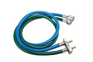 Oxygen - Nitrous Oxide Hose Assemblies for Accutron White Slim-Line Outlets & Porter-Type Outlets
