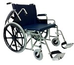 MRI Conditional 24-Inch Bariatric Wheelchair