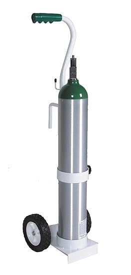 MRI Compatible Stainless Steel Heavy Duty Cylinder Cart
