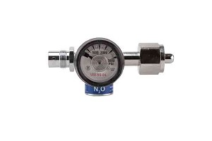 Compact Nitrous Oxide 50 PSI Preset Diaphragm Regulator CGA 326
